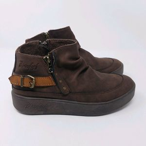 Blowfish Chukka Brown 6 Side Zip Buckle Thick Sole